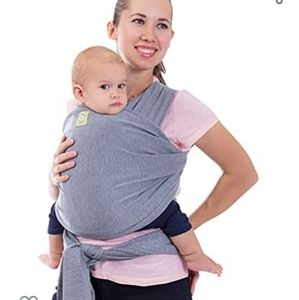 KeaBabies Baby Wrap Carrier Classic Gray